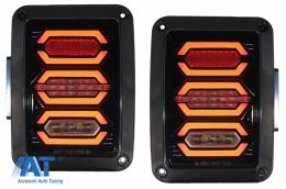 Stopuri Full LED compatibil cu JEEP Wrangler JK (2007-2017) Fumuriu