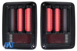 Stopuri Full LED compatibil cu JEEP Wrangler JK (2007-2018) LEDBar Fumuriu - TLJEWRJKBB