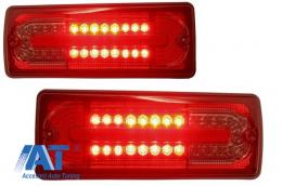 Stopuri Full LED compatibil cu MERCEDES Benz W463 G-Class (1989-2015) Rosu/Fumuriu - TLMBW463RS