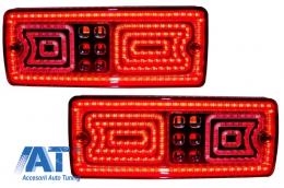 Stopuri Full LED compatibil cu MERCEDES Benz W463 G-Class (1989-2015) Rosu/Fumuriu - TLMBW463RSL