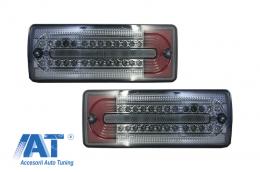 Stopuri Full LED compatibil cu MERCEDES Benz W463 G-Class (1989-2015) Fumuriu/Rosu - TLMBW463BR