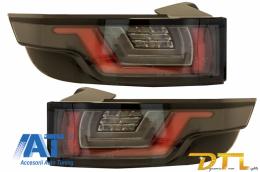 Stopuri Full LED compatibile cu Land ROVER Range ROVER Evoque (2011-2014) Negru/Crom Semnal Dinamic Secvential - TLRREL358/LDLR12