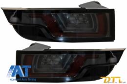 Stopuri Full LED compatibile cu Land ROVER Range ROVER Evoque (2011-2014) Fumurii Semnal Dinamic Secvential - TLRREL358RS/LDLR13
