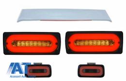 Stopuri Full LED cu Lampa Ceata si Eleron Portbagaj compatibil cu MERCEDES Benz W463 G-Class (1989-2015) - COTLMBW463LBSRS