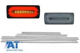 Stopuri Full LED Fumurii cu Bandouri Laterale Aluminiu Mat compatibil cu Mercedes W463 G-Class (1989-2015) - COTLMBW463LBSDMS