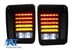 Stopuri Full LED Jeep Wrangler / Rubicon JK (2007-2017) - TLJEWJK