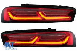 Stopuri Full LED Light Bar compatibil cu Chevrolet Camaro (2015-2017) Rosu cu Semnal Dinamic - TLCHECAMAROR