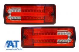 Stopuri Full LED Mercedes Benz W463 G-Class (1989-2015) Rosu/Clar - TLMBW463RC