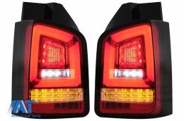 Stopuri Full LED Rosu Clar compatibile cu VW Transporter Multivan V T5 Facelift (2010-2015) - TLVWT5FLED