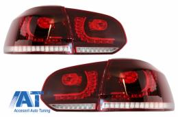 Stopuri FULL LED Volkswagen Golf 6 VI (2008-up) R20 Design Semnal Secvential Dinamic - TLVWG6R20RCFW