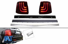 Stopuri Glohh LED LightBar Dinamic si Ornament bandou portbagaj Aluminiu compatibile cu Range Rover Sport L320 (2005-2011) GL-3 Facelift Aubiography Design - COTLRRSL320FGTTA