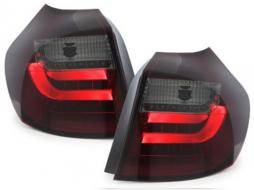 Stopuri LED BMW 1er E87 07-11 rosu / fumuriu-