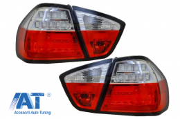 Stopuri LED BMW E90 3er Limousine (2005-2008)  Rosu/Alb - 930393