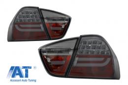 Stopuri LED BMW E90 Seria 3 Limuzina (2005-2008) Fumuriu