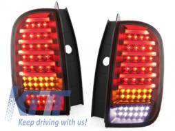 Stopuri LED CarDNA compatibil cu DACIA Duster Rosu/Fumuriu - RD02LRS - RD02LRS
