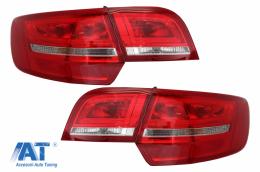 Stopuri LED compatibil cu Audi A3 8PA Sportback (2004-2008) Rosu/Clar - TLAUA38PRC