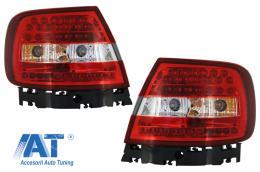 Stopuri LED compatibil cu AUDI A4 (1994-2000) Rosu Clar - TLAUA4B5RC