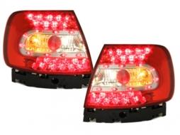 Stopuri LED compatibil cu AUDI A4 B5 Lim. 95-01  rosu/cristal - RA02LLRC