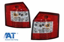Stopuri LED compatibil cu AUDI A4 B6 8E Avant (2001-2004) Rosu / Crom - RA11LRC1