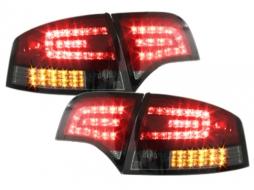 Stopuri LED compatibil cu AUDI A4 B7 Sedan 04-08 LED BLINKER Rosu/Fumuriu - RA12SLRSL