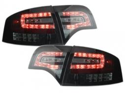 Stopuri LED compatibil cu AUDI A4 B7 Lim.04-08_Semnalizator LEd negru Fumuriu - RA12SLBSL