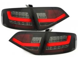 Stopuri LED compatibil cu AUDI A4 B8 8K Sedan 2007-2010 Negru / Fumuriu - RA14SLBS