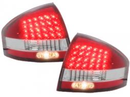 Stopuri LED compatibil cu AUDI A6 97-04  rosu/cristal - RA03LRC