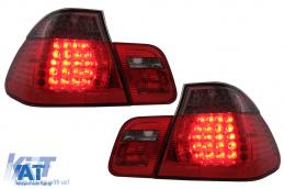 Stopuri LED compatibil cu BMW Seria 3 E46 Limousine 2002-2004 Rosu/Fumuriu 4 usi - RB21ALRB/1214898