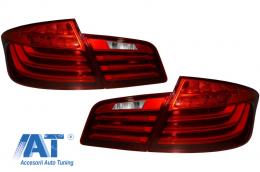 Stopuri LED compatibil cu BMW Seria 5 F10 (2011-2017) Rosu Clar LCI Design - TLBMF10RC