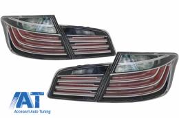 Stopuri LED compatibil cu BMW Seria 5 F10 (2011-2017) Negru Clar LCI Design - TLBMF10BL