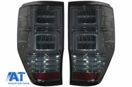 Stopuri LED compatibil cu Ford Ranger (2012-2018) Geam Fumuriu cu Semnal Dinamic - TLFRNGT6S