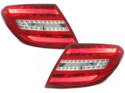 Stopuri LED compatibil cu MERCEDES Benz C-Class W204 2007-2010 Rosu / Clar - RMB16DLRC