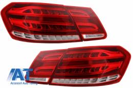 Stopuri LED compatibil cu MERCEDES Benz E-Class W212 (2009-2013) Facelift Design Rosu/Clar - TLMBW212RCOEDP