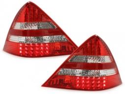 Stopuri LED compatibil cu MERCEDES Benz SLK R170 99-04 rosu/cristal - RMB18DLRC