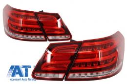 Stopuri LED compatibil cu MERCEDES E-Class W212 (2009-2013) Facelift Design Rosu Clar