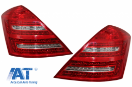 Stopuri LED compatibil cu MERCEDES S-class W221 (2005-2009) Facelift Design Rosu Cristal Facelift Design - TLMBW221FDP