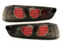 Stopuri LED compatibil cu MITSUBISHI Lancer 08 + / negru / fum - RM03DLBS