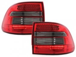 Stopuri LED compatibil cu Porsche Cayenne (2003-2007) Rosu Fumuriu - RPO02LRS