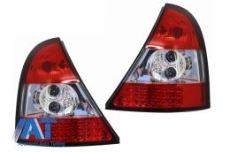Stopuri LED compatibil cu RENAULT Clio II 98-01  rosu/cristal - RR01LRC