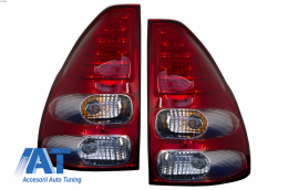 Stopuri LED compatibil cu TOYOTA Land Cruiser FJ120 (2003-2008) Rosu / Clar - TLTOLC120