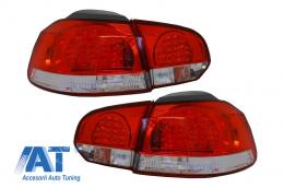 Stopuri LED compatibil cu VW Golf 6 VI (2008-2010) Rosu Clar - 960896