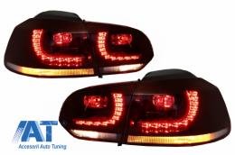 Stopuri LED compatibil cu VW Golf 6 VI (2008-2013) R20 GTI Cherry Red Design DEPO - TLVWG6R20RCDP