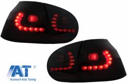 Stopuri LED compatibil cu VW Golf V 03-09 negru/fumuriu - RV16KLBS