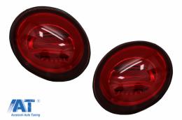 Stopuri LED compatibil cu VW New Beetle (1998-2005) cu Semnal Secvential Dinamic Rosu - TLVWBER