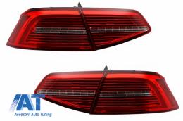 Stopuri LED compatibil cu VW Passat B8 3G (2015-2019) Sedan Matrix R line cu semnal dinamic - TLVWPA3G