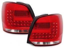 Stopuri LED compatibil cu VW Polo 6R (2009-2014) Rosu/Clar