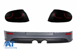 Stopuri LED Fumuriu Dinamic cu Prelungire Bara Spate compatibil cu VW Golf 5 (2004-2007) R32 Design - COTLVWG5SFWRBR32