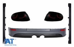 Stopuri LED Fumuriu Dinamic cu Prelungire Bara Spate si Praguri LAterale compatibil cu VW Golf 5 (2004-2007) R32 Design - COCBVWG5SFWRBR32