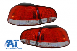 Stopuri LED Volkswagen Golf 6 VI (2008-2010) Rosu Clar - 960896
