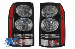 Stopuri Off Road LED compatibil cu Land Rover Discovery III 3 & IV 4 (2004-2009) (2009-2016) Negru Facelift Look - TLLRD4F